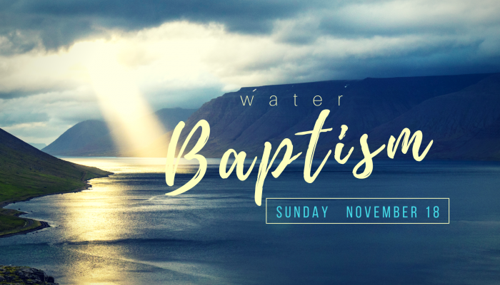 Baptism (Both Services)